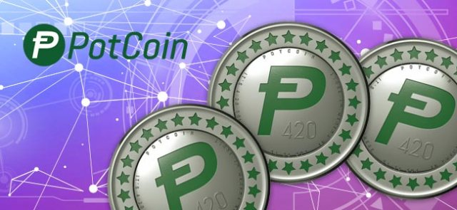potcoin-purple_background-potcoin_l0g0